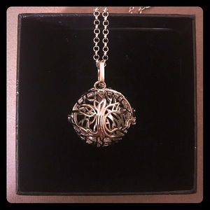 Jewelry - Tree of Life - Essential Oil Cage Necklace Set